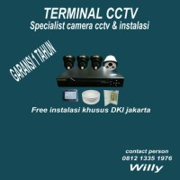 PAKET CCTV SGUARD 4 CHANNEL AHD 2MP ( free pemasangan wilayah Jakarta)