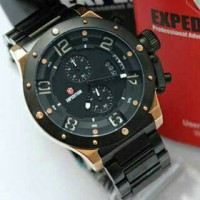 Jam Tangan pria Expedition E6381 Rantai Black gold original