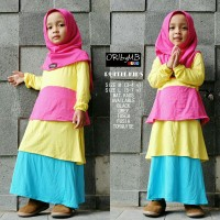 SUPPLIER HIJAB : RUFFLE KIDS ORIBYMB / UKURAN L