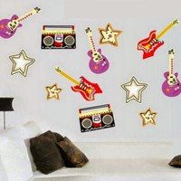 Wallsticker Music Guitar 60x90 cm Wall Sticker Musik Gitar Murah