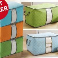 Bamboo Storage Bag / Box (organizer Pakaian, Selimut, Bed cover,sprei)