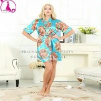 harga baju tidur satin flower kimono robe for bride or maternity Tokopedia.com