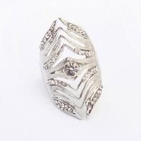 Cincin Korea diamond decorated irregular geometric shape - 0AAAFD
