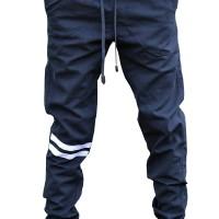 Jual Jogger Pants Blue - Strip Putih Murah