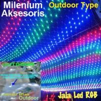 Jual Lampu Hias Dekorasi Led Model Jala (Jaring) RGB Outdoor Type 100 Led Murah