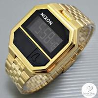 Jam Tangan Nixon Rerun Gold, Black, Silver