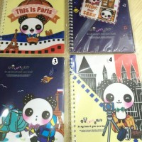 Charming Panda Ring Notebook (Fancy Ring Notebook)