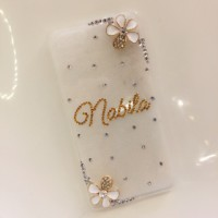 custom nama simple diamond blinkcase oppo neo 3 5 7 mirror clover yoyo