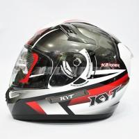 HELM KYT K2 Rider White Black Red