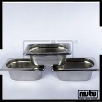 Wadah Untuk Sayur Berbahan Stainless Steel Food Pan-1965 Paket 3 MUTU