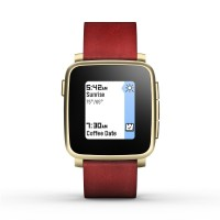 Smart Watch Pebble Time Steel Red