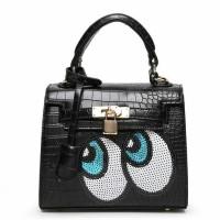 Tas Hermes kelly eye mata kartun black hitam Fashion Import