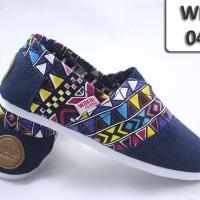 harga Wakai anak 040 navy batik/ sepatu flat anak / slip on kids Tokopedia.com