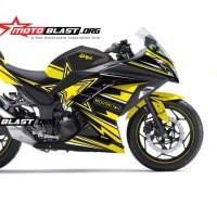 Decal Ninja 250 Rockstar yellow