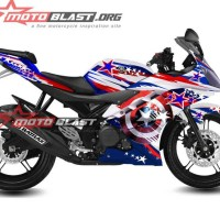Decal Stiker Yamaha R15 Captain America