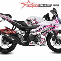 Decal Yamaha R15 white hello kitty