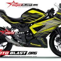 Decal Stiker Ninja 250 RR Mono Black HITECH Yellow