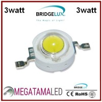 High Power LED 3W Bridgelux Cool White & Putih 15.000K-20.000K