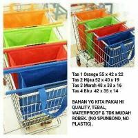 Jual TAS TROLLY-TROLEY SHOPPING BAG 4PC Murah