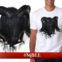 Kaos Pria / Distro / Pakaian / Switer / Tshirt 3d Hewan Binatang Kambing Domba