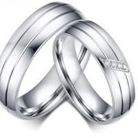 Cincin Couple / Tunangan / Nikah / Pasangan / Titanium C009