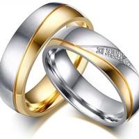 Cincin Couple / Tunangan / Nikah / Pasangan / Titanium C012