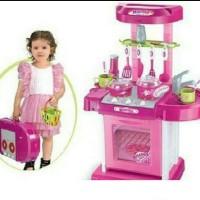 Mainan Anak Kitchen Koper Set Pink
