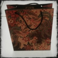 Jual Paper Bag Batik / Tas Kertas Batik Besar isi @12pcs Murah