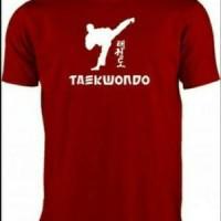 kaos t-shirt pria taewondo korea kaos olahraga silat
