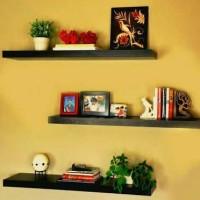 floating shelf 1set(3pcs) / ambalan / rak dinding minimalis