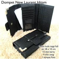 dompet wanita lacoste new laurent kulit hitam