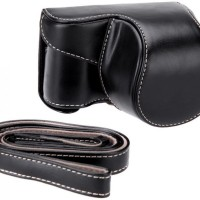 Jual Leather Case For Sony Alpha A5000/A5100 - Hitam Murah