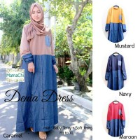 denia dress ori / gamis cantik