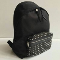 JUAL TAS YSL BACKPACK STUD CANVAS WITH BOX MIRROR QUALITY