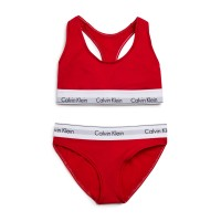 Calvin Klein Modern Bralette Brief Set 2 pcs (Red).
