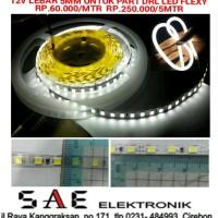 PART FLEXY DRL LED STRIP LEBAR 5MM 120 LED / MTR 600 LED / ROLL