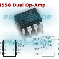 JRC4558D IC Opamp 4558D Low-Power Dual-Operational Amplifiers 4558 DIP