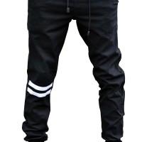 Jual Jogger Pants Black - Strip Putih Murah