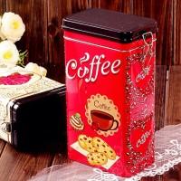 AD02-065 Coffee Biscuits Tin / Kotak Biskuit Tema Kopi Klasik