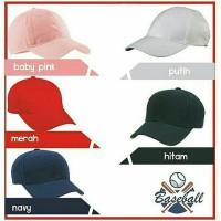 Jual Baseball Cap (Hat Baseball) - Polos Murah