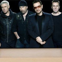 Poster U2 Black Background (M103)