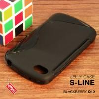 Blackberry Q10 Soft Gel Jelly Silicon Silikon Tpu Case Softcase Hitam