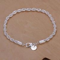 harga 925 Sterling Silver Twisted Bracelets- Unisex/gelang Perak 925 Unisex Tokopedia.com