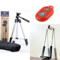 Portable Tripod Stand 4 Section - Weifeng WT3110A - Aluminium Legs