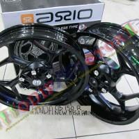 harga Velg Lebar Hitam Putih New Megapro Axio CNC 250-350 inch Tokopedia.com