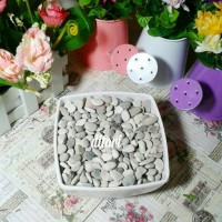 batu hias tanaman bunga plastik artificial /batu kerikil koral
