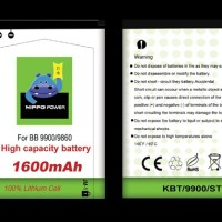 Hippo Battery BB BlackBerry Dakota Monza 9900 9860 JM1 1600mah/ Batre