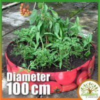 Pot Tanaman Sayur Diameter 100cm-Tomato/Vegetable Planter (Raised Bed)