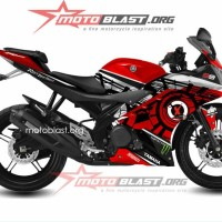 Decal striping yamaha R15 sun moon RED.01