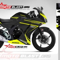 Decal Honda CBR-150R LOKAL-BLACK YELLOW
